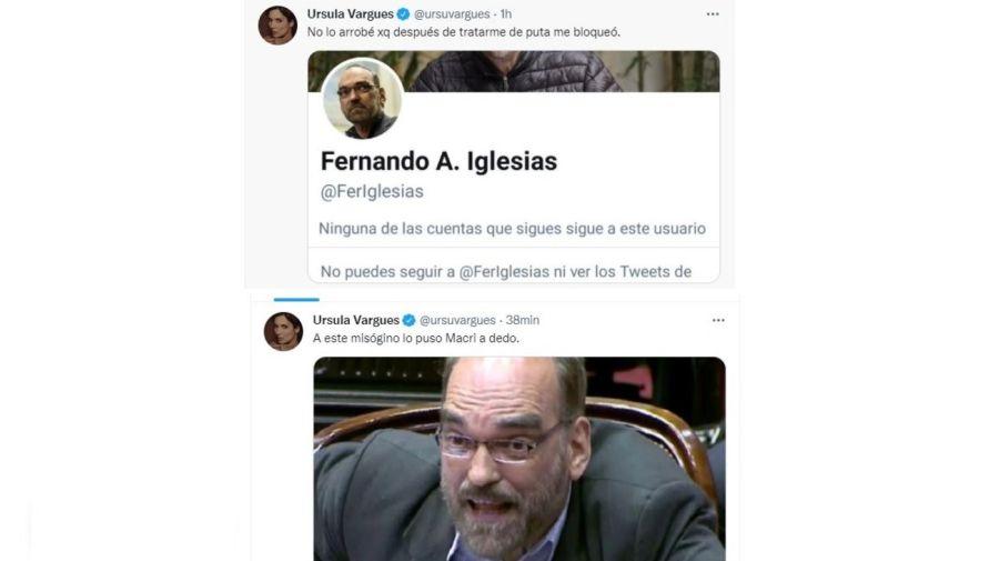 Ursula Vargues contra Fernando Iglesias