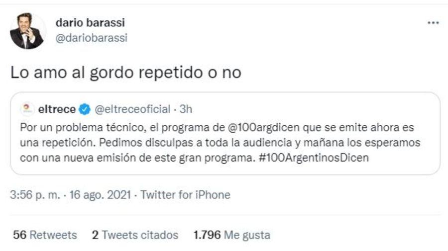 Darios Barassi comentario error El Trece