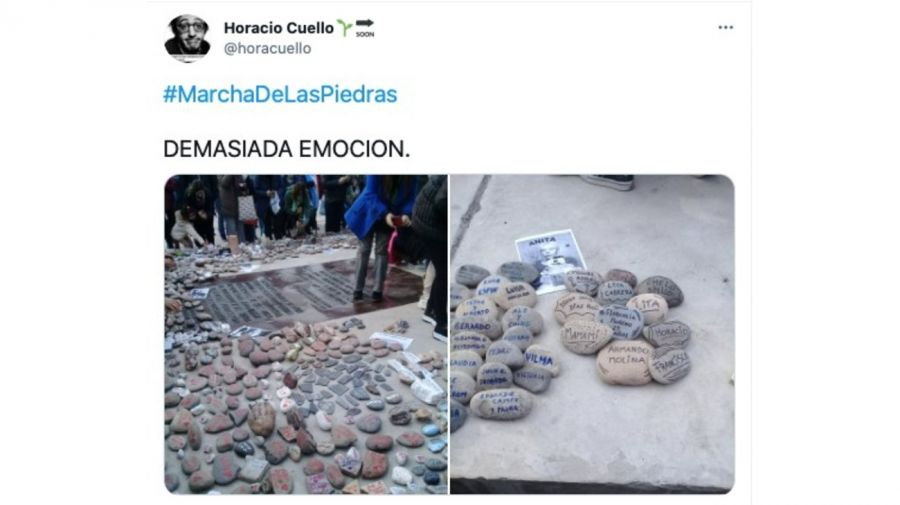 tuits marcha de las piedras