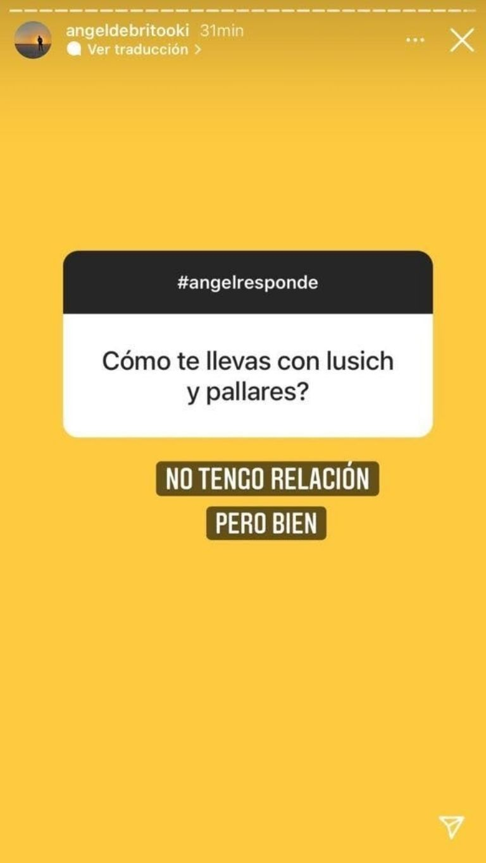 Ángel de Brito reveló cómo se lleva con Rodrigo Lussich y Adrián Pallares