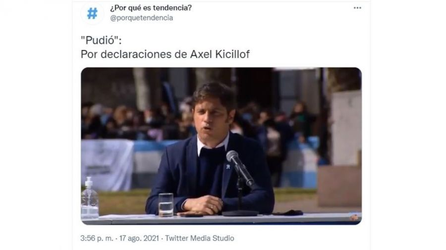 Axel Kicillof pudio