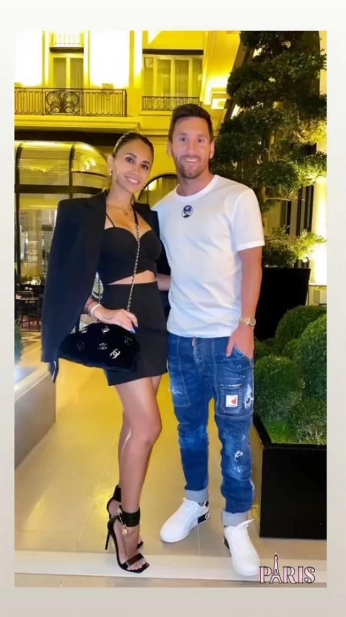 La primera salida romántica de Leo Messi y Antonella Roccuzzo en París