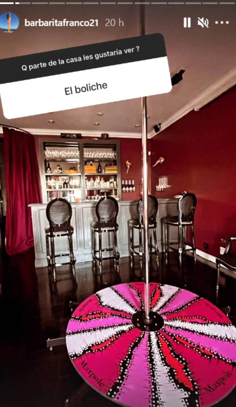 Barby Franco mostró parte de la lujosa casa donde vive con Fernando Burlando