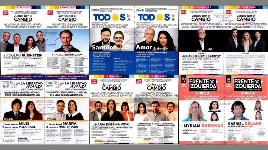 Boletas precandidatos Diputados Nacionales x Capital Federal Paso 2021 20210818