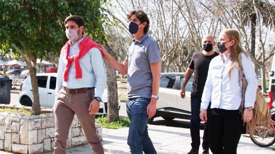 Martín Lousteau estuvo en Casilda, Santa Fe, con los candidatos del radicalismo en la provincia