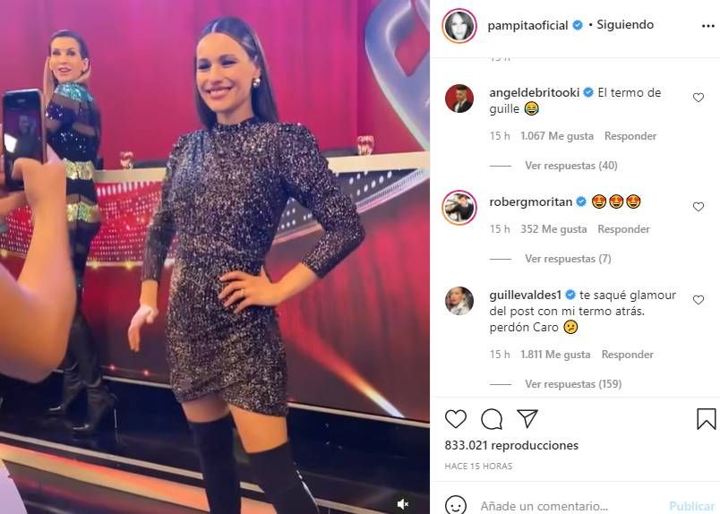 Guille Valdés le pidió disculpas a Pampita por un blooper en redes: