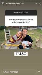 Juana Repetto enfrentó y aclaró los rumores de crisis con su marido Sebastián Graviotto