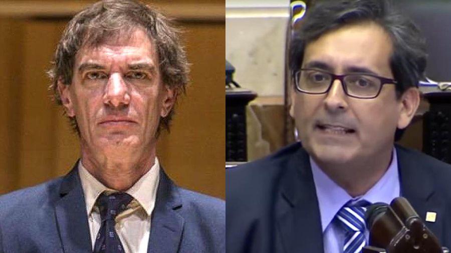 Dario Lopérfido y el diputado Jose Luis Patiño 20210820
