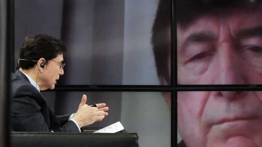 Jaime Duran Barba en la entrevista con Jorge Fontevecchia.