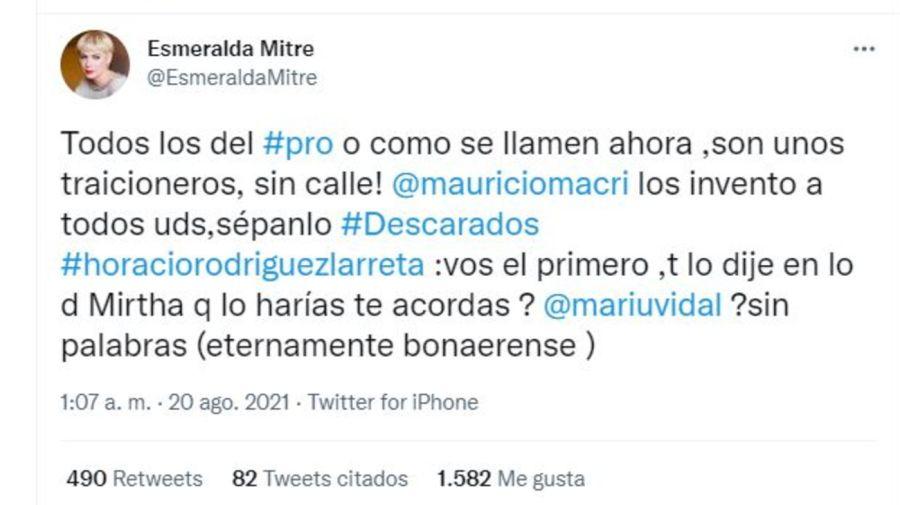 Esmeralda Mitre contra el PRO