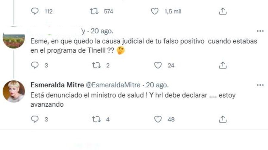 Esmeralda Mitre y su falso positivo