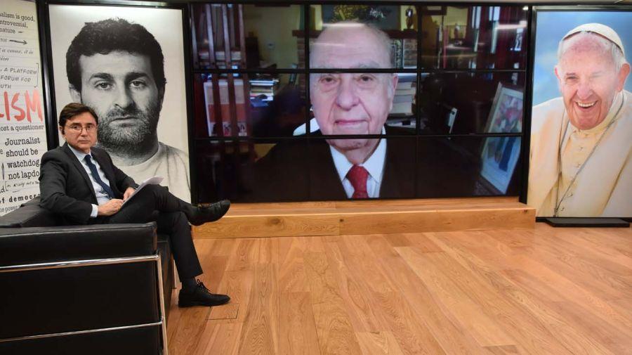 Julio María Sanguinetti, en la entrevista con Jorge Fontevecchia.