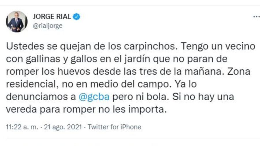 Denuncia Jorge Rial