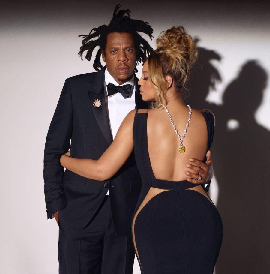 Beyoncé como Audrey hepburn y Jay Z como Basquiat