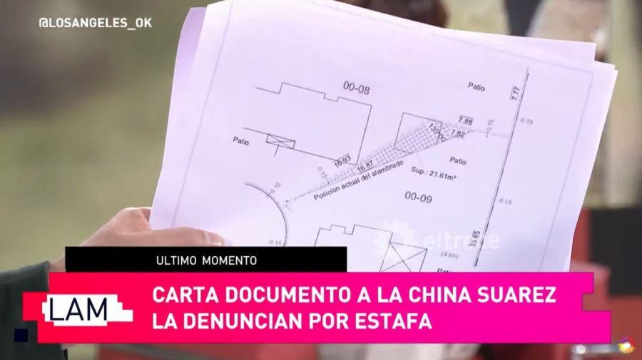 Plano terreno China Suarez denuncia