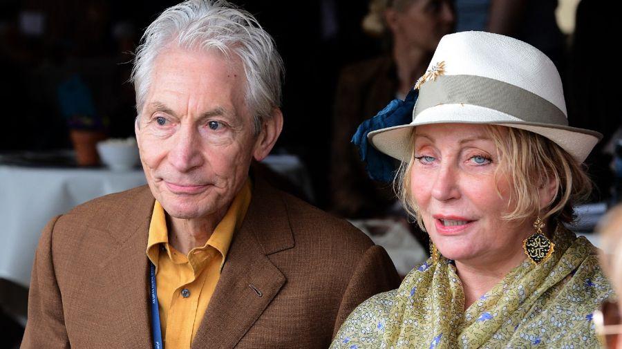 Charlie Watts y su esposa Shirley