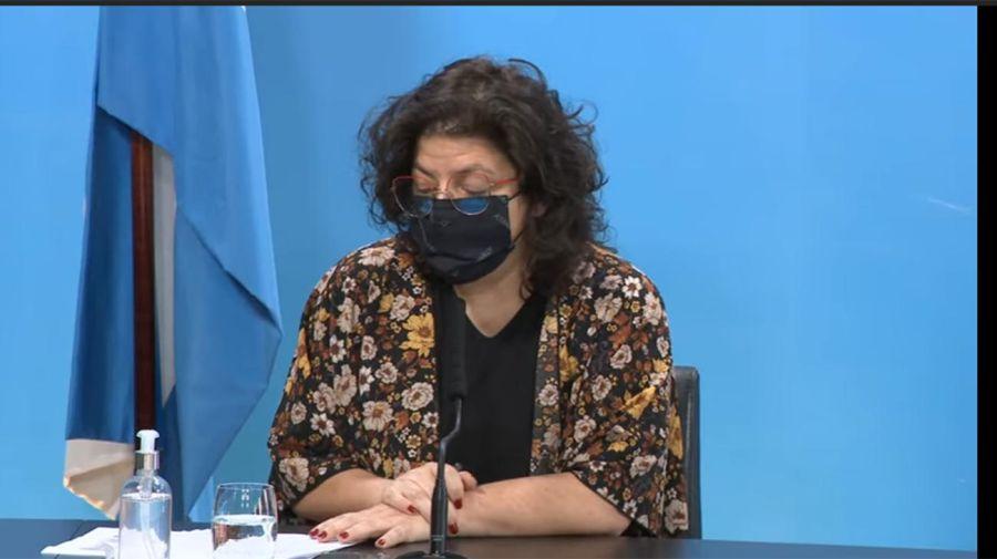 Conferencia de prensa de la ministra Carla Vizzotti junto al ministro Matías Lammens 20210824