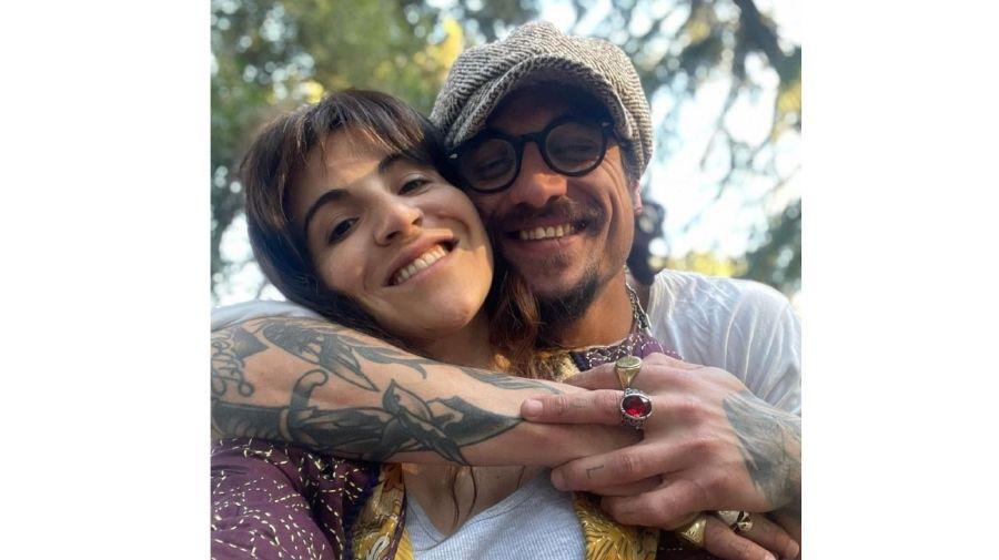 Daniel Osvaldo y Gianinna Maradona