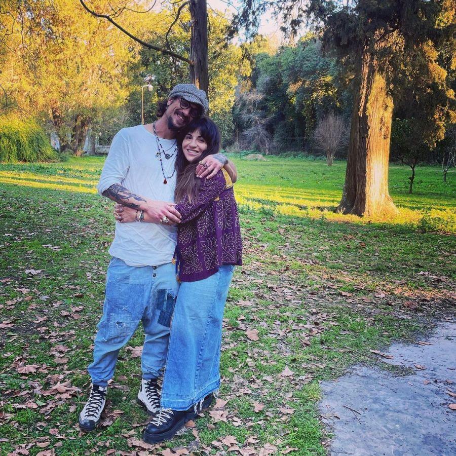 Daniel Osvaldo y Gianinna Maradona celebran el amor: