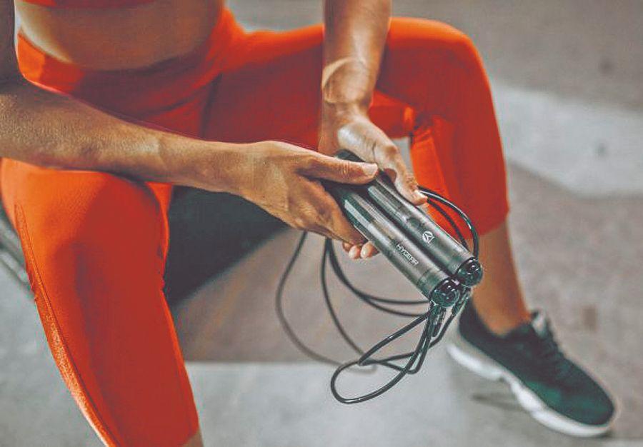 Entrenamiento cardio con una soga inteligente