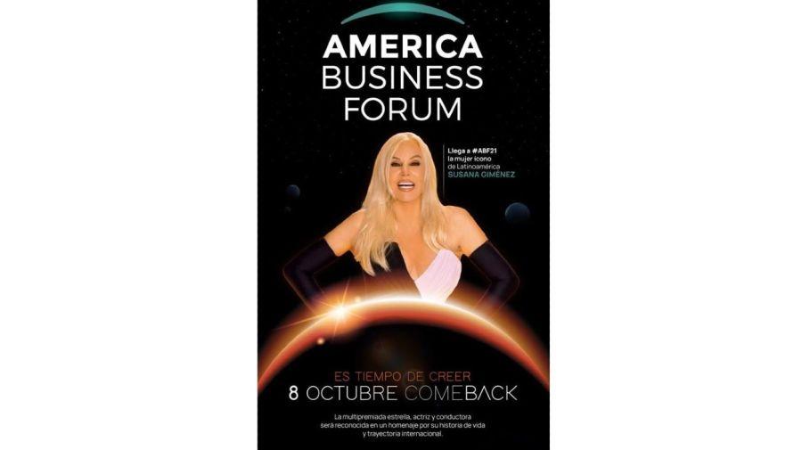 Susana Gimenez America Business Forum