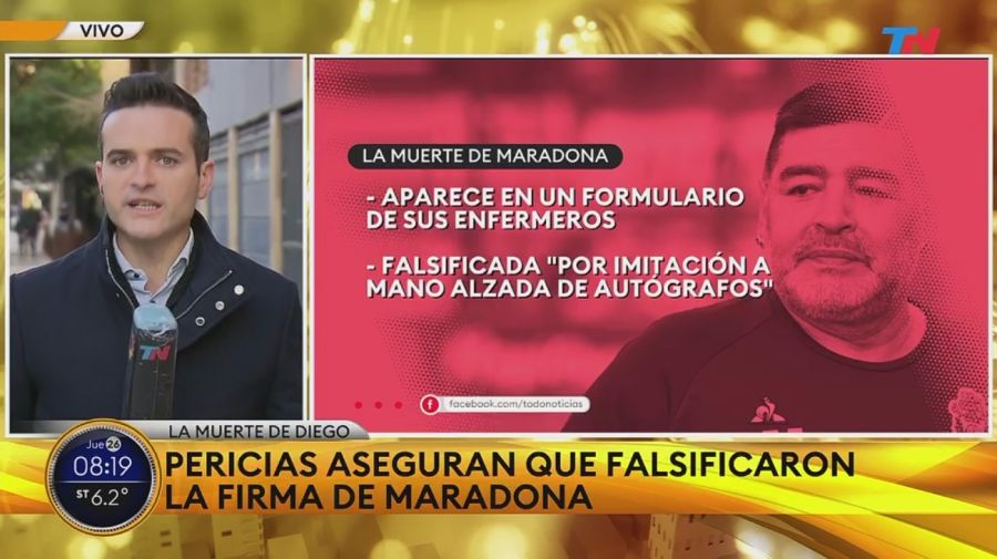 Falsificacion firma Diego Maradona