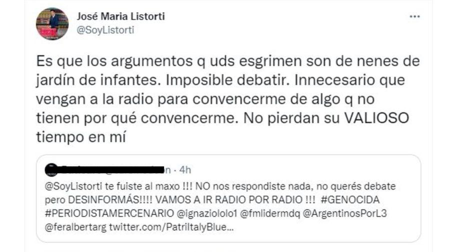 Jose Maria Listorti increpado por antivacunas
