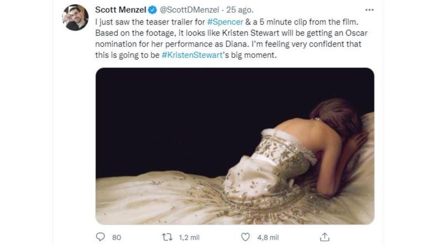 Kristen Stewart como Diana en Spencer