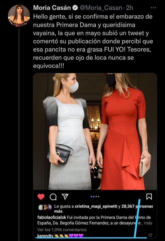 Moria vaticinó el embarazo de Fabiola Yáñez: