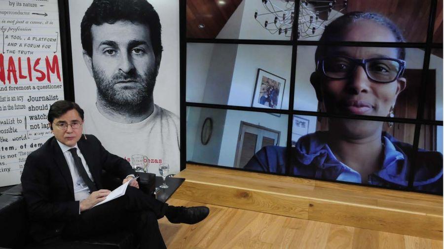 Ayaan Hirsi Ali, en la entrevista con Jorge Fontevecchia.