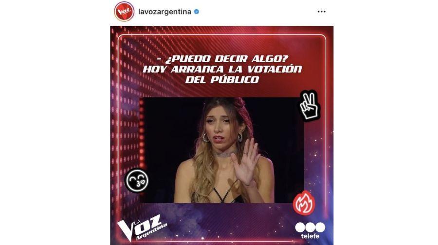 Jessica Amicucci La Voz Argentina meme
