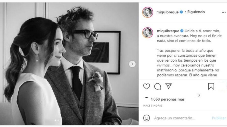 Micaela Breque y James Rhodes casamiento
