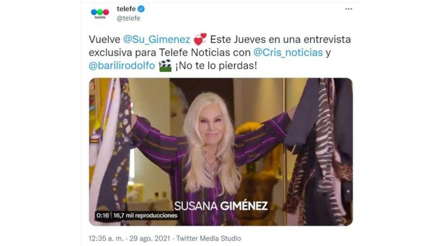 Susana Gimenez vuelve a Telefe