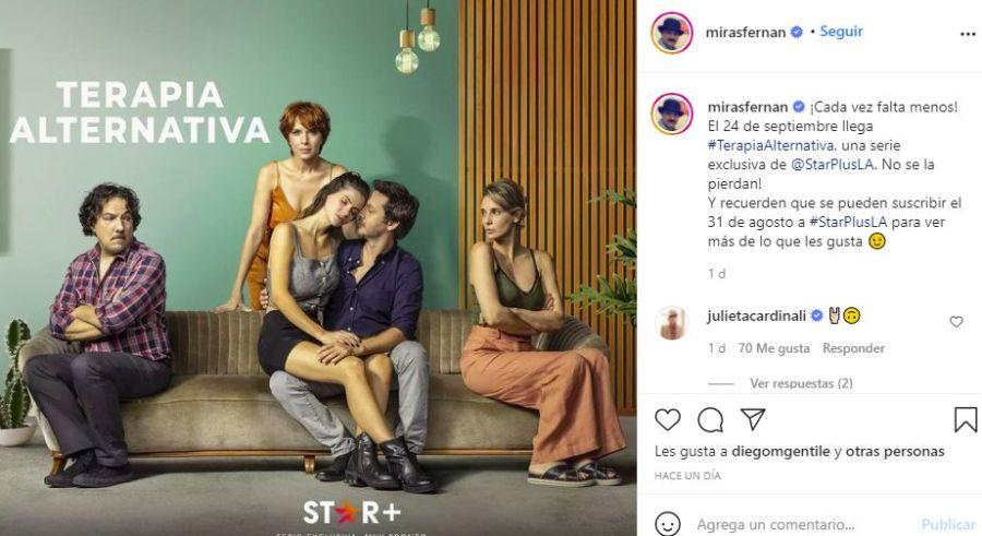 El filoso comentario de Benjamín Vicuña en una foto promocional de su nueva serie