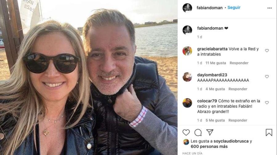 Fabián Doman publicó una romántica foto con su nueva pareja