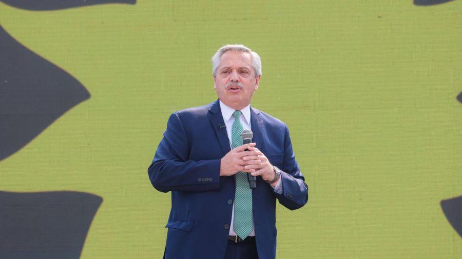 Alberto Fernández en Tecnópolis 20210831