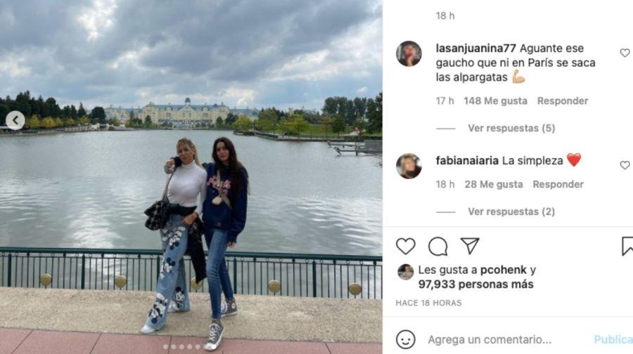 El particular gesto de Wanda Nara que despertó rumores de embarazo en la foto con Zaira Nara