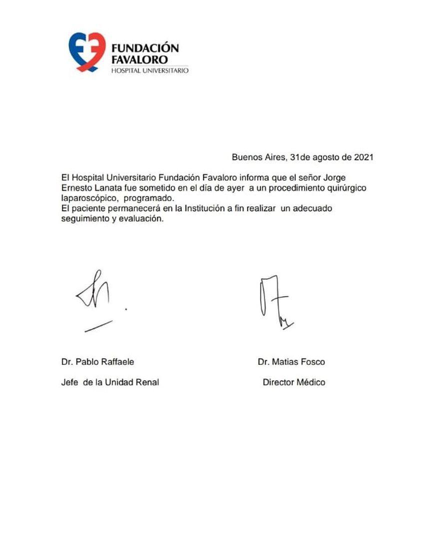 Jorge Lanata fue operado y se encuentra en observación en Hospital Favaloro