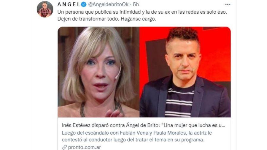 Respuesta Angel de Brito a Ines Estevez