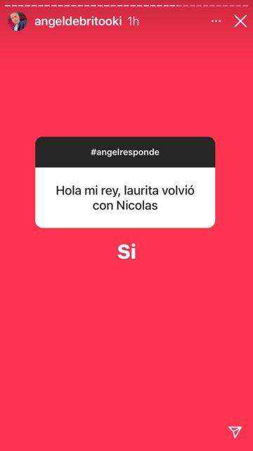 Angel de Brito confirmó que Laurita Fernández volvió con Nicolás Cabré