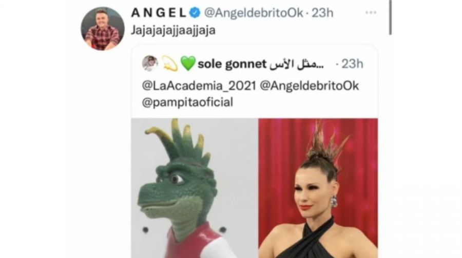 Ángel de Brito compartió un meme sobre el look punk de Pampita y las redes sociales estallaron