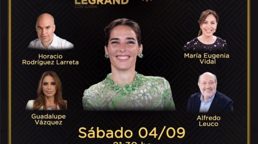 Estos son los invitados elegidos de Juana Viale y Vero Lozano para este fin de semana