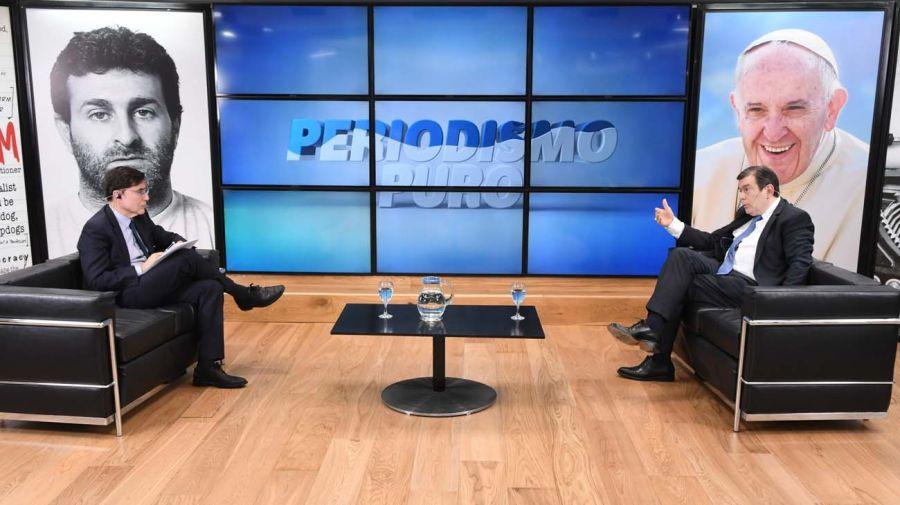 Gerardo Zamora, en la entrevista con Jorge Fontevecchia.