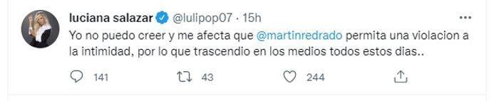Luciana Salazar hizo un pedido desesperado a Martín Redrado en las redes sociales: