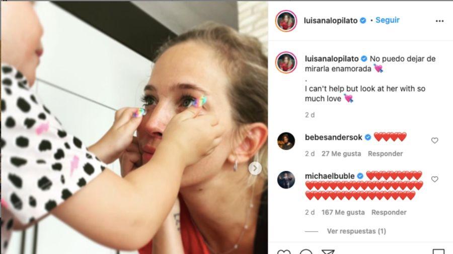 Luisana Lopilato compartió imágenes jugando con su hija Vida