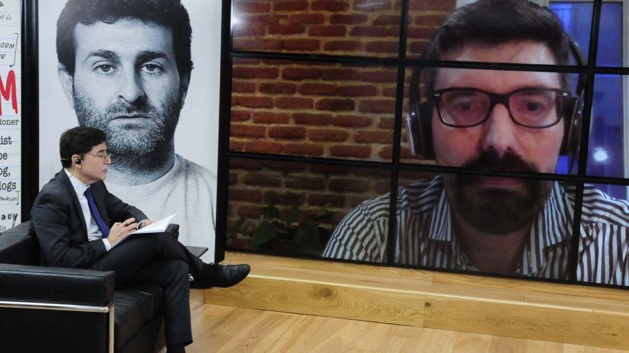 Pablo Stefanoni, en la entrevista con Jorge Fontevecchia.