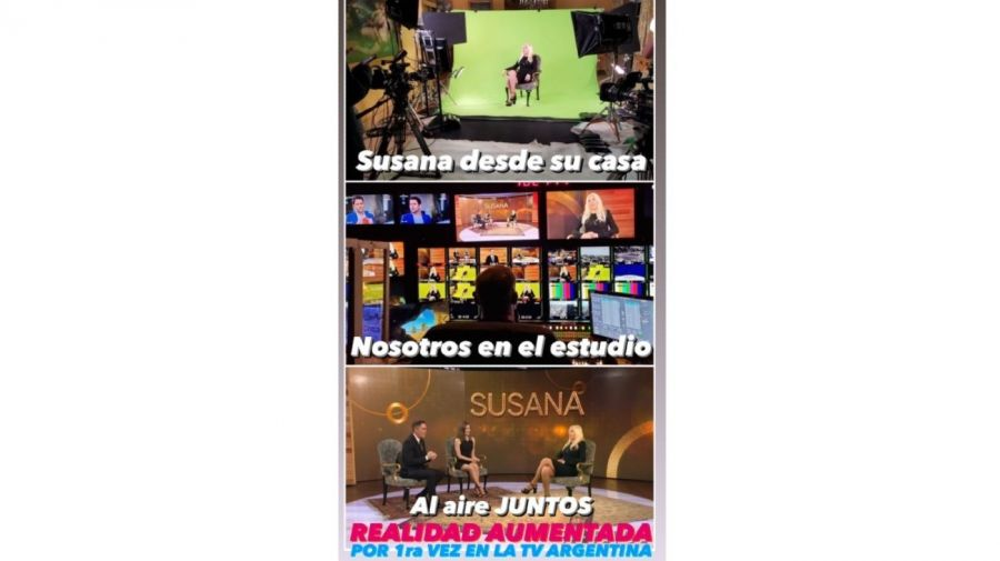 Susana Gimenez en Telefe realidad aumentada