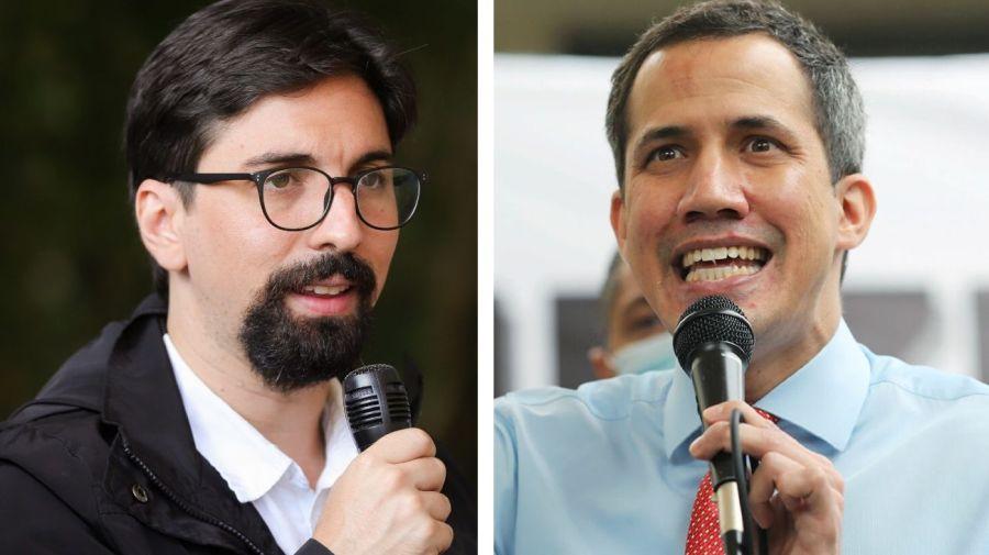 Freddy Guevara y Juan Guaidó.