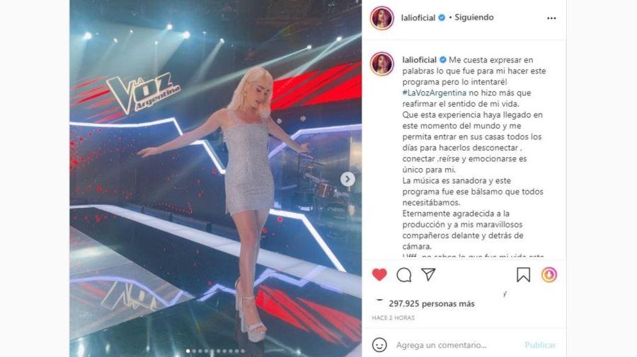 Lali Esposito final La Voz Argentina