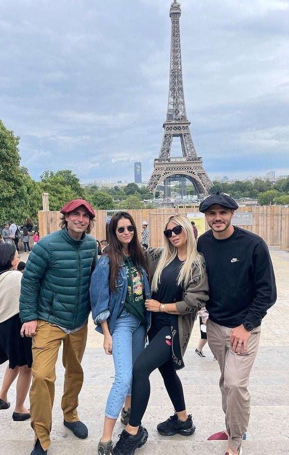 Las hermanas Zaira y Wanda Nara se reencontraron en París